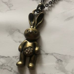 Bunny sparkle necklace